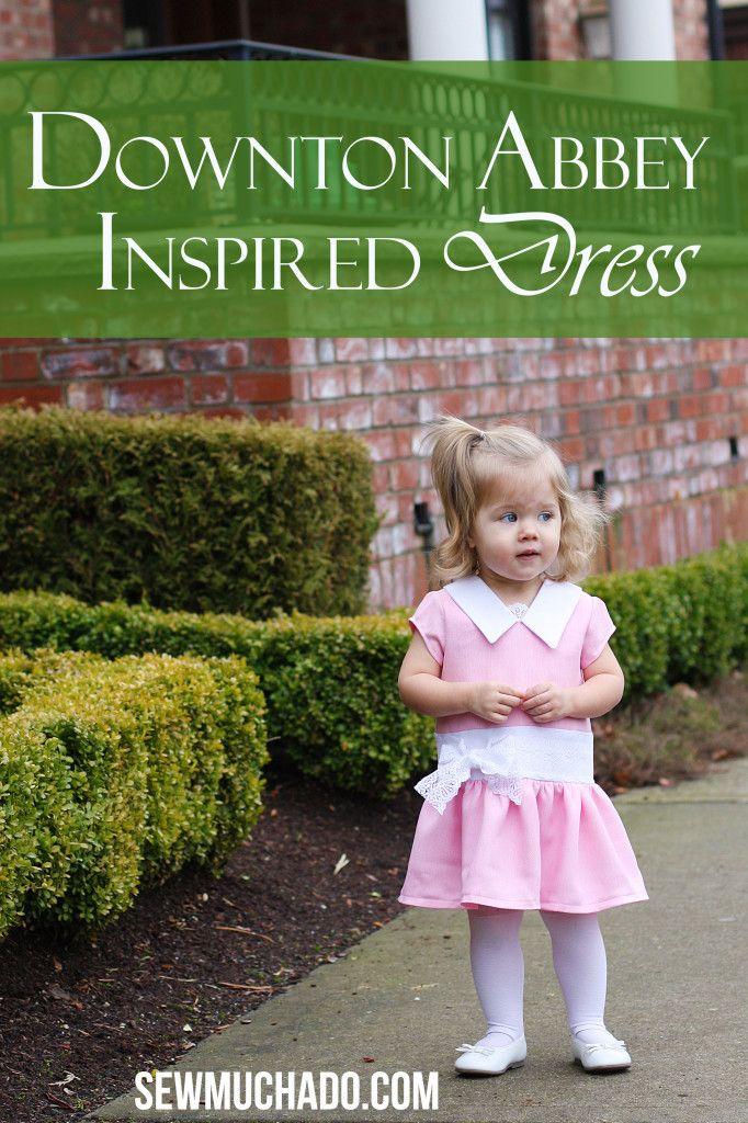 Downton Abbey Inspired Girl's Dress #sewmuchado #girlsdress #downtonabbey #sewing