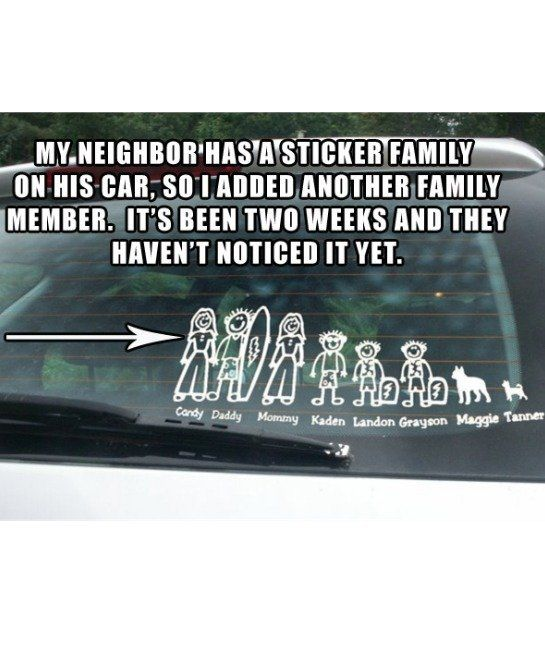 Best Car Decal Family Images On Pinterest Family Car - Funny car decal stickers