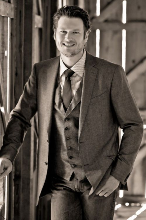 Blake Shelton- Brooke can I add him to your babe board since he's in a suit?