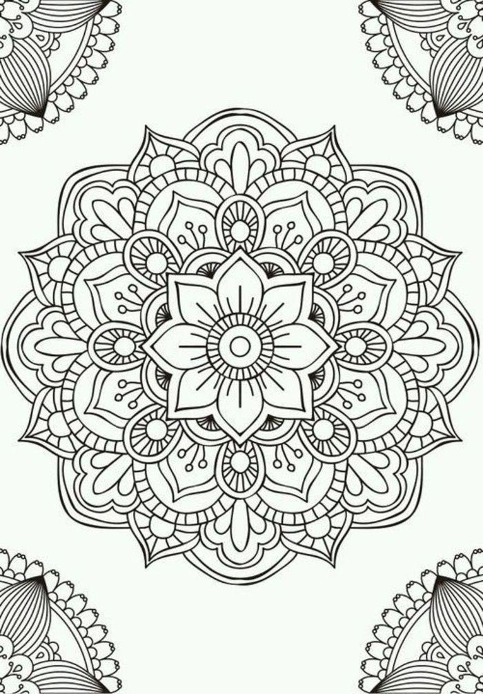 1001 Idees Et Techniques Pour Faire Un Mandala Ausmalbilder Mandala Zum Ausdrucken Zentangle Kunst