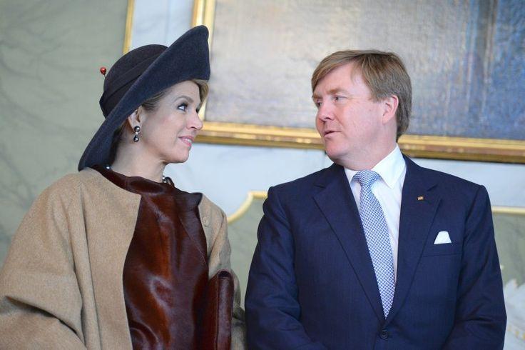 Erste Verschnaufpause im im historischen Audienzsaal des Rathaus: Königin Maxima und König Willem-Alexander der Niederlande