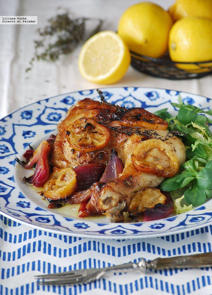 Pollo al horno con limón. DIRECTO AL PALADAR