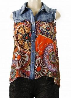 Refashion jean shirt