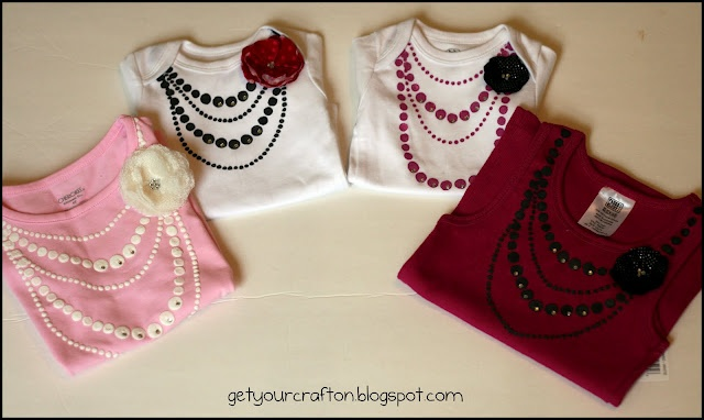 Get Your Craft On: Faux Jewelry - a quick tutorialFaux Jewelry, Little Girls, Quick Tutorials, Faux Necklaces, Diy Shirt, Gift Ideas, T Shirts, Baby Girls Gift, Crafts
