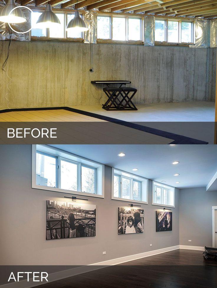 Before and After Basement Remodeling - Sebring Services