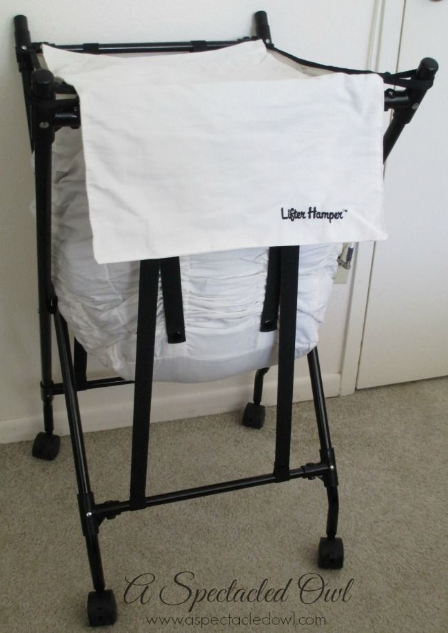 "The Lifter Hamper Makes Laundry Easier (seen on DIY Networks, ""I Want That!"" show & ABC's ""Shark Tank"") - bungee spring loaded laundry hamper #ad"