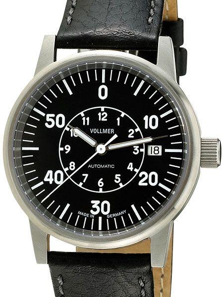 Vollmer V5 Aileron Swiss ETA Automatic Aviator Watch with Sapphire Crystal, Hirsch Strap