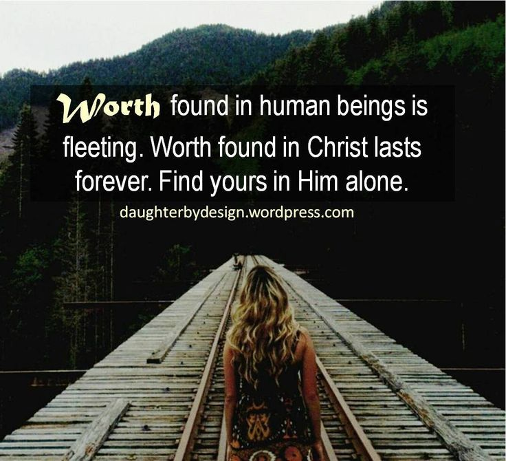 worth, identity in Christ