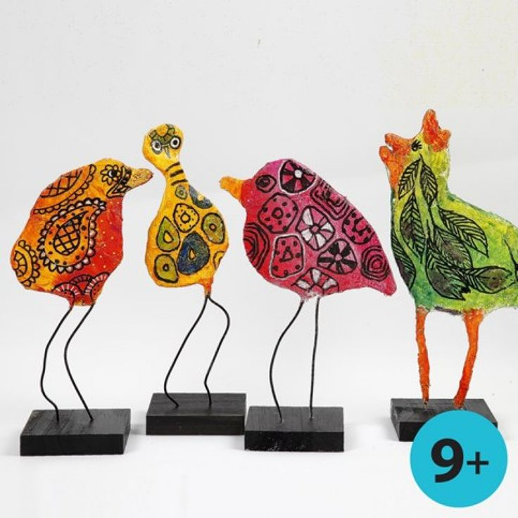 Vogels van gipsgaas met A-Color Glasverf   DIY handleiding