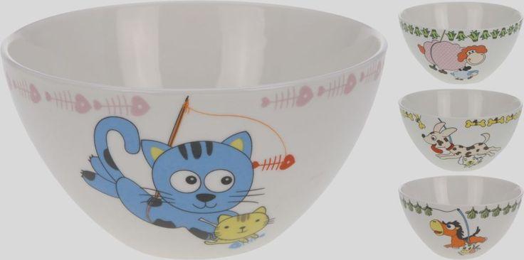 Miska dětská 13x7 cm porcelán dekor -