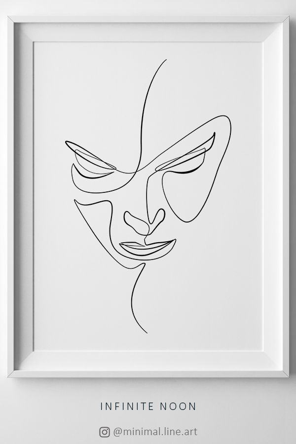 Female Sketch Wall Art