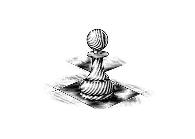 Chess Musical Logo | Steven Noble Illustrations: Chess Piece