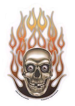 1x-Par-Caveira-Boyz-034-Caveira-Azul-N-Flames-034-Biker-Harley-Novo-P3-Caveira-Boyz-Sa