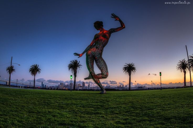 Figura, Rzeźba, Kobieta, San Francisco