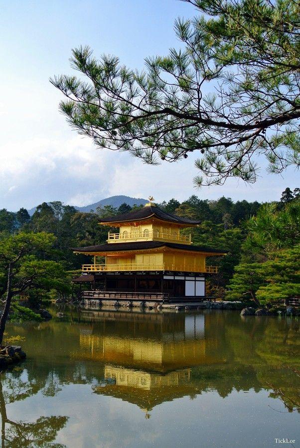 Golden pavillion, Japan