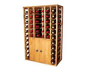 Étagère à vin pour 48 bouteilles bois de pin, naturel - H105