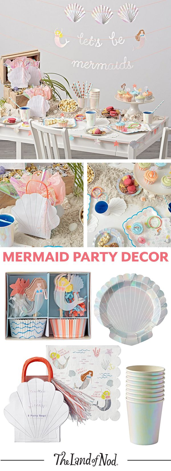 Make a splash at your kids' next birthday party with tons of mermaid themed décor and party supplies.