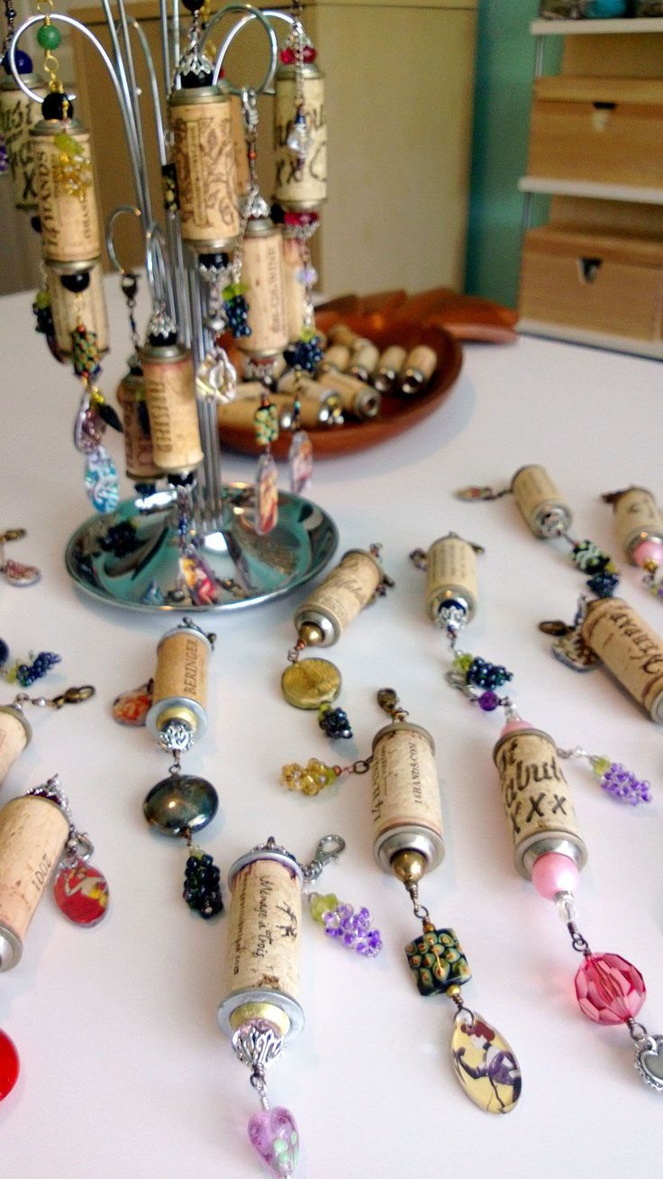Decorative Wine Cork Ornaments created by Renee Webb Allen