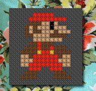Super Mario cross stitch pattern free