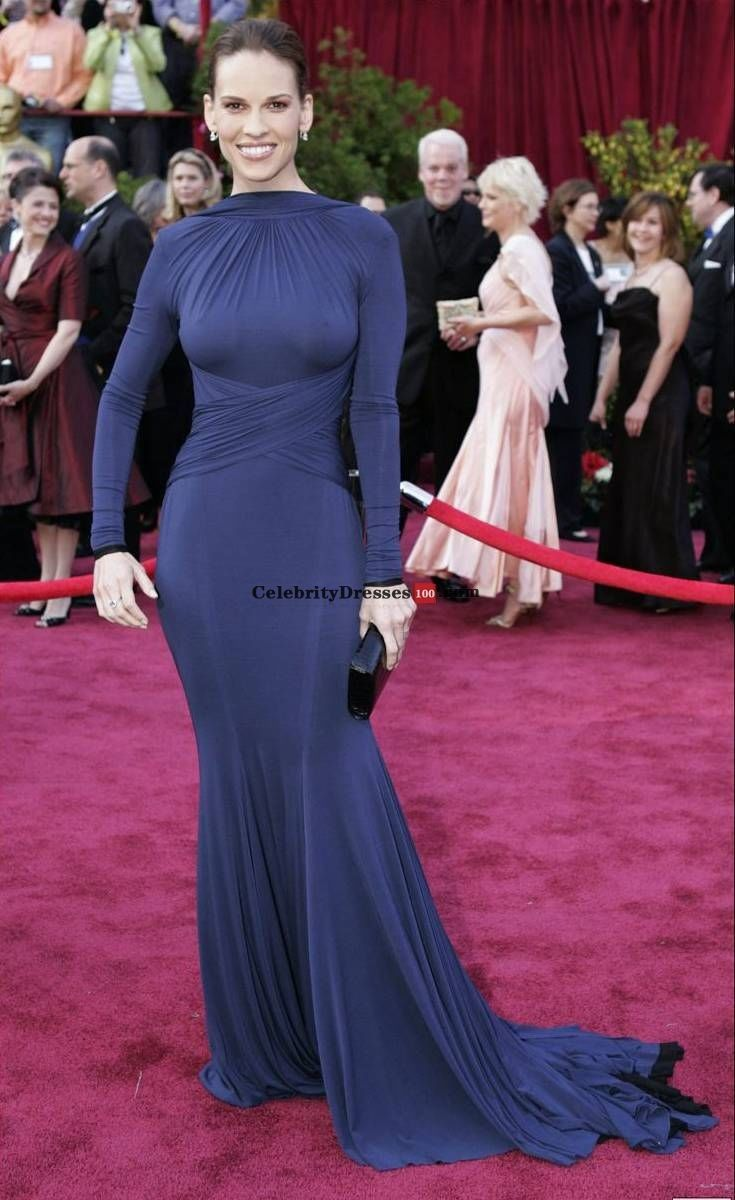 Hillary Swank in Guy Laroche.. This was the the dress of