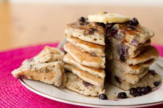 Vegan & Gluten-Free Vanilla Blueberry Buckwheat Pancakes...so ...