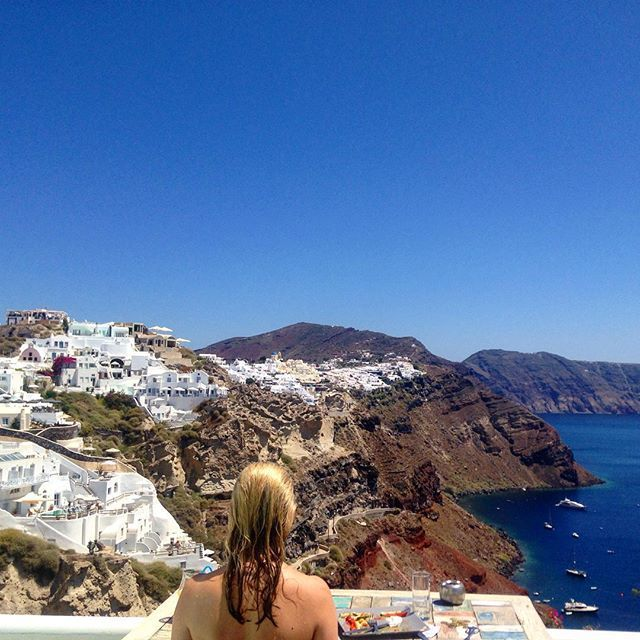Gasp in the natural beauty of Santorini.