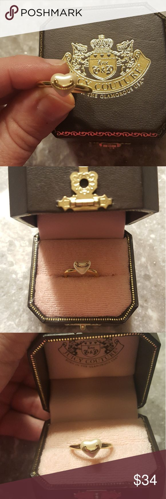 🆕️Juicy Couture puffed pearl ring Adorable Juicy ring, like new! Comes with pictured ring box Juicy Couture Jewelry Rings