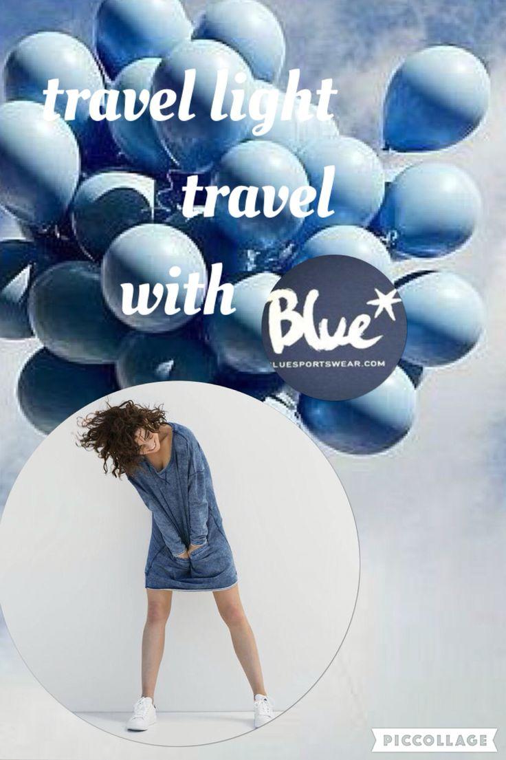 Travel light... travel with Blue www.bluesportswear.nl