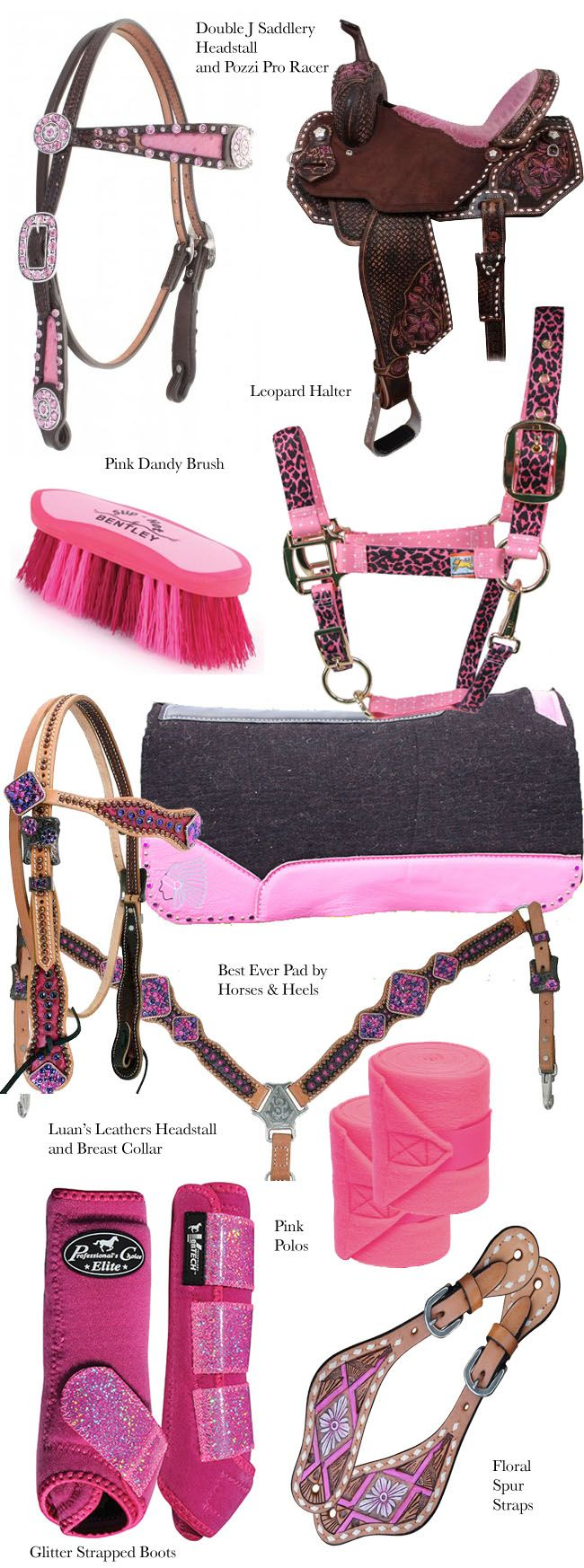 Pink Tack for the Barrel Racer | Horses & Heels