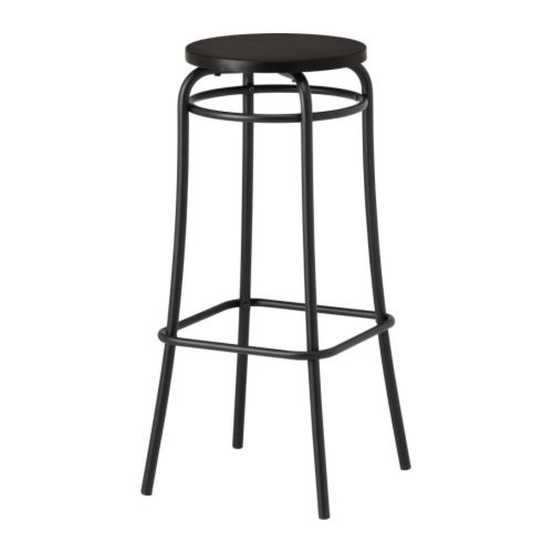agne bar stool black