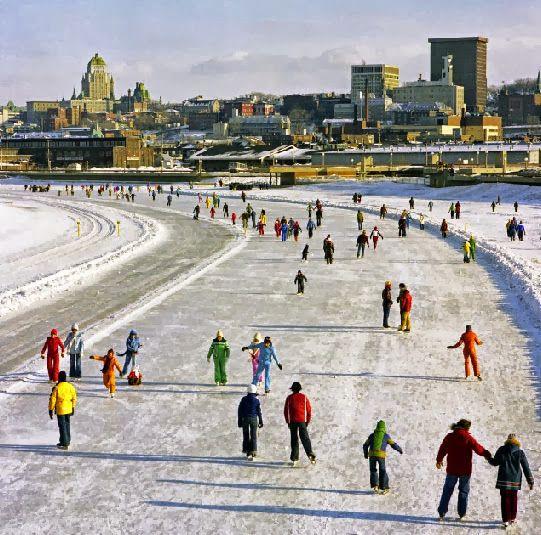 1978.C'est l'époque où l'on pouvait patiner sur la Rivière St-Charles St-Roch et Limoilou.