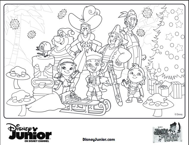 disney jr holiday coloring pages - photo#11