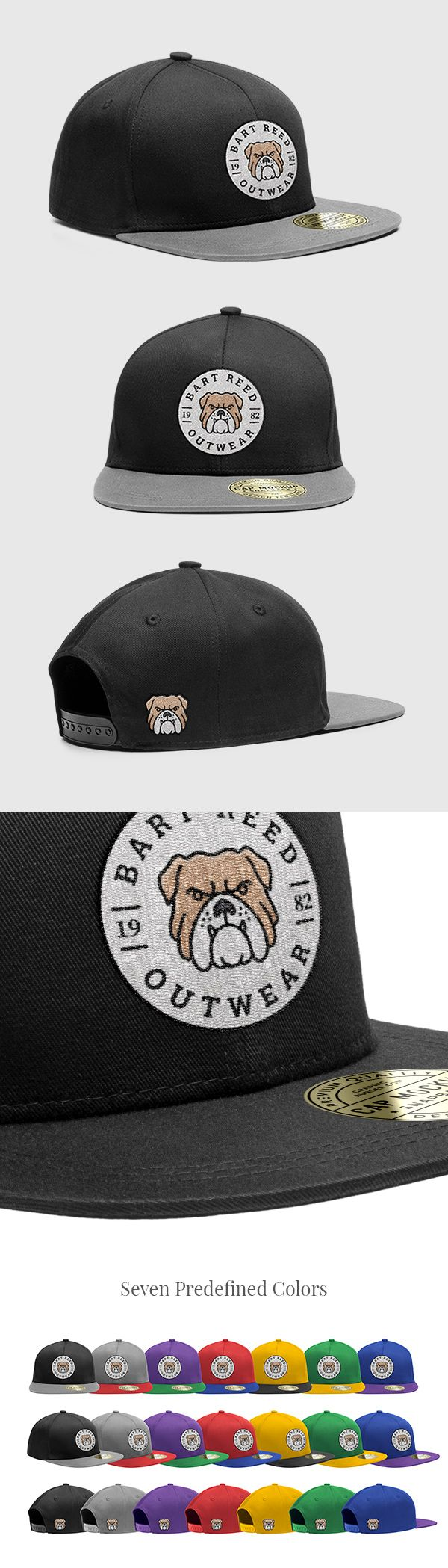 Hi friends! Today we have for you a Snapback Cap PSD MockUp with two  embroidered elements plus front and angle views. It includes smart layers so it allows you to apply your designs with ease in no time. The mockup comes with 7 predefined colors for the cap, get it and showcase your apparel designs. Hope you love it!