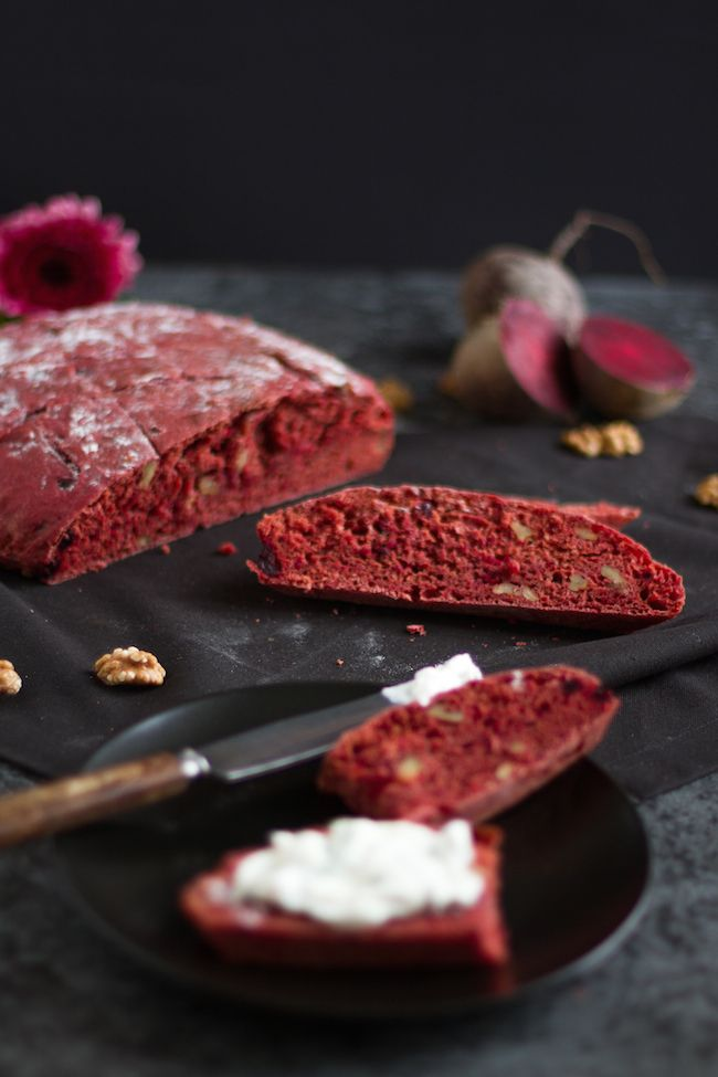 Rote Bete Brot I Beetroot Bread I haseimglueck.de