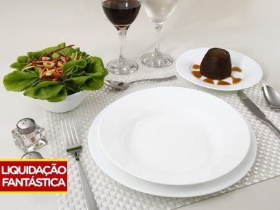 OFERTA APENAS R$ 69,90 !!! Aparelho de Jantar 16 Peças Duralex - Vidro Redondo Branco Opaline com as melhores condições você encontra no Magazine Tododiapromocoes. Confira!