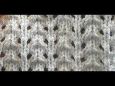 Knit Pattern * VERY EASY LACE STITCH * - YouTube