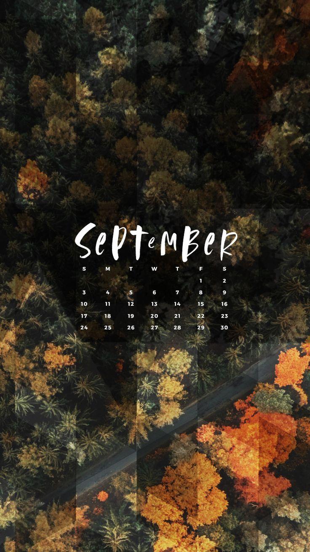 Goodbye Summer  Hello Autumn And Hello School! Enjoy This Free September  2017 Calendar Wallpaper