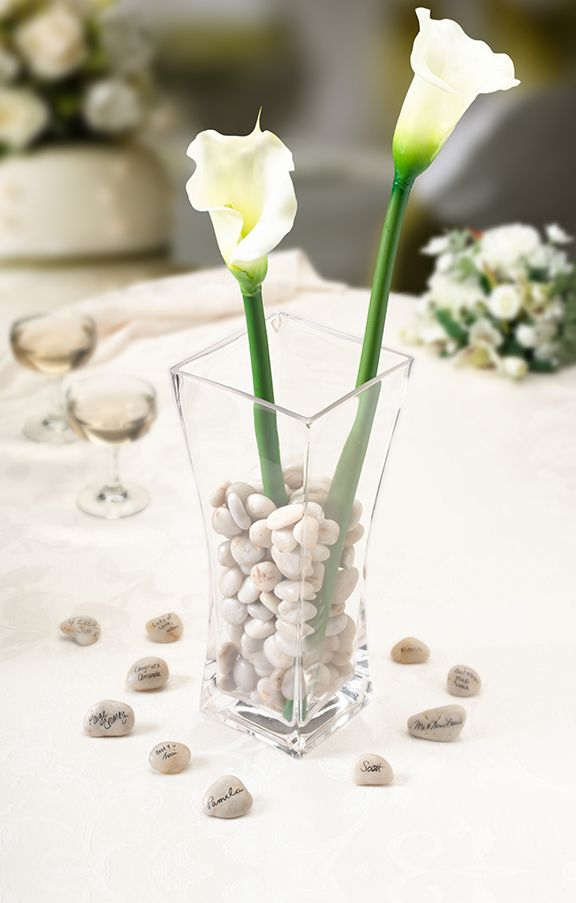 Guest Signing Stones with Vase - This is awesome