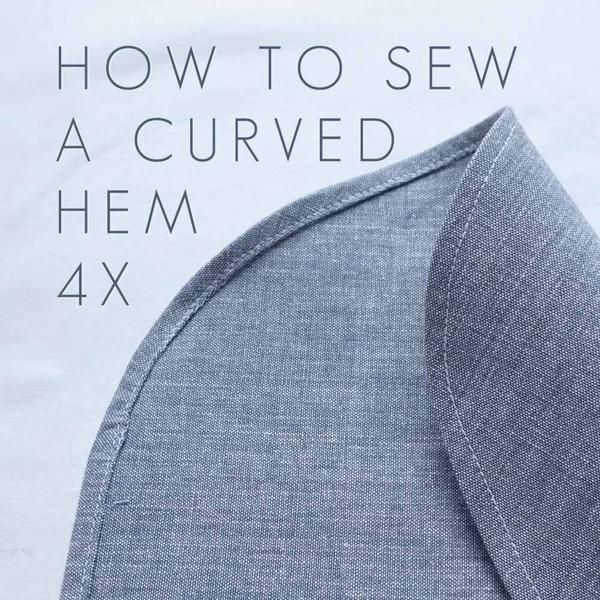 How to sew a curved hem? Well it depends! I've made a few videos explaining different techniques for sewing around curves Sew a curved hem using a stitched guid