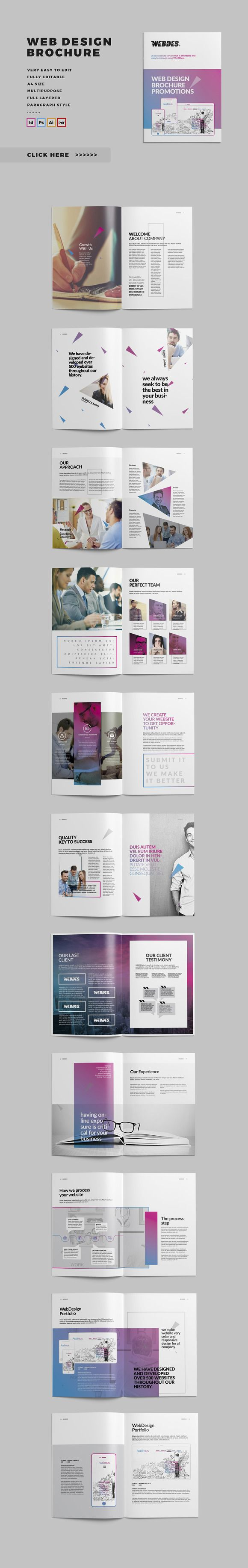 Web Design Brochure by @Graphicsauthor