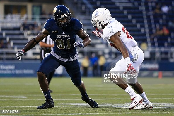 News Photo : Thomas Owens of the FIU Panthers in action during...