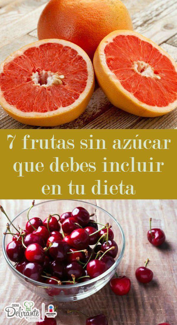 7 frutas sin azúcar para incluir en tu dieta