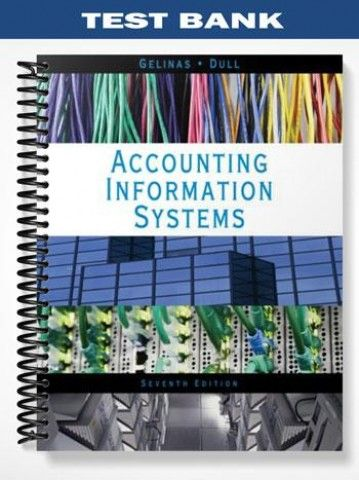 Test Bank Accounting Information Systems 7th Edition Gelinas  at https://fratstock.eu/Test-Bank-Accounting-Information-Systems-7th-Edition-Gelinas