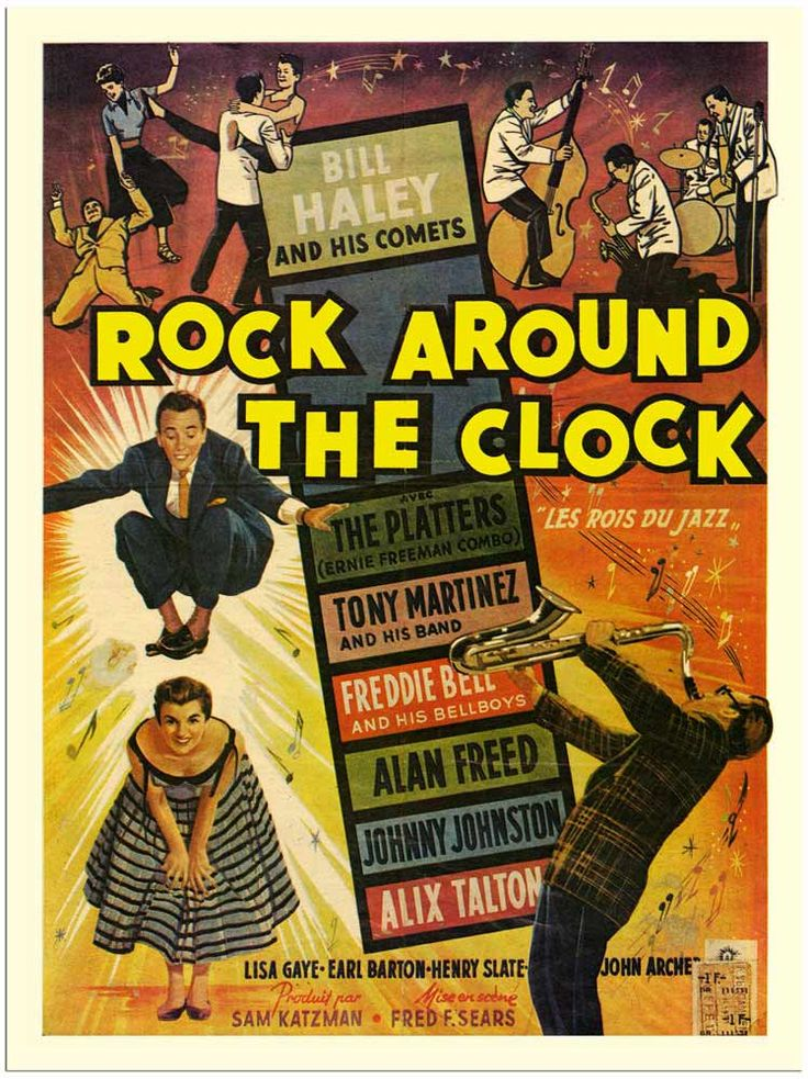1950 movie posters | ... Around The Clock, Bill Haley, Movie Poster 1950s (30x40cm Art Print