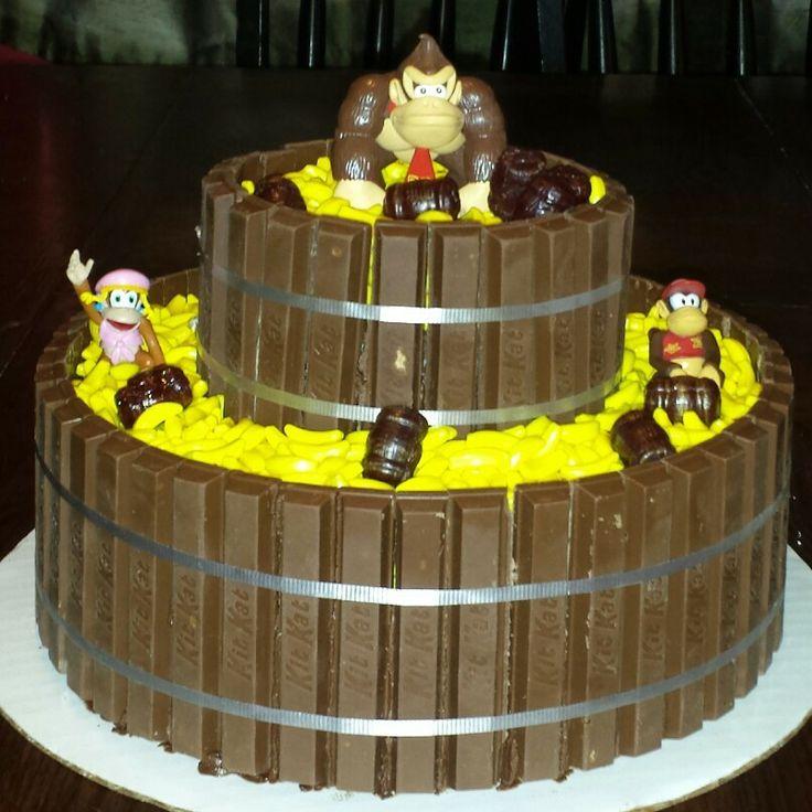 Donkey Kong Cake Cakes Pinterest Donkeys Birthdays