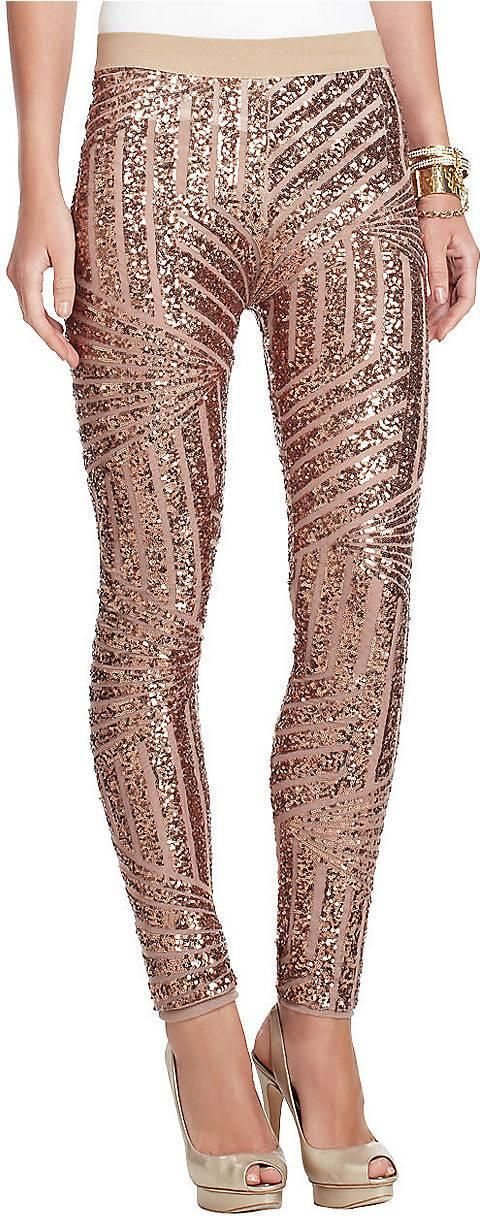 BCBG Shelby Sequin Leggings in Pink Rose Gold - Best 25+ Sequin Leggings Ideas On Pinterest Sequin Pants