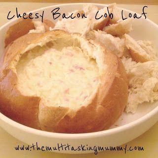 Mummy Mondays - Cheesy Bacon Cob Loaf |The Multitasking Mummy