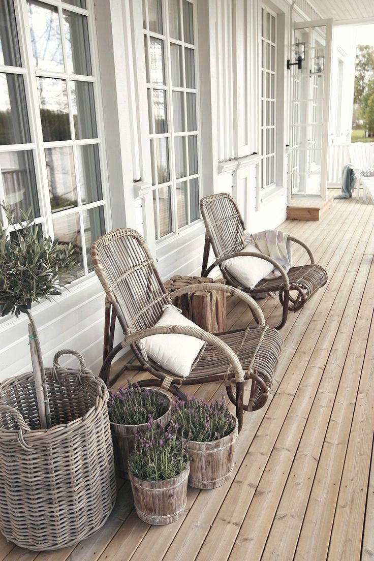 Rustic wicker baskets - Perfect as pots for plants, or for storing firewood and other bits and pieces on your porch | These pieces are from the Artwood of Sweden range available at Greenslades Furniture www.greensladesfurniture.co.nz
