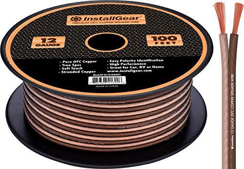 InstallGear 12 Gauge Speaker Wire - 99 9% Oxygen-Free Copper