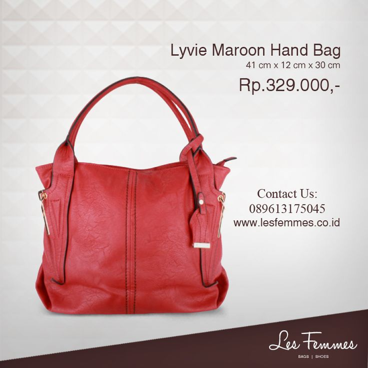 Lyvie Maroon Hand Bag 329,000 IDR #Fashion #Woman #bag shop now on http://www.lesfemmes.co.id/hand-bags/lyvie-maroon-hand-bag